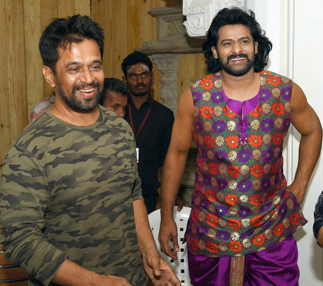 Arjun on the sets of baahubali