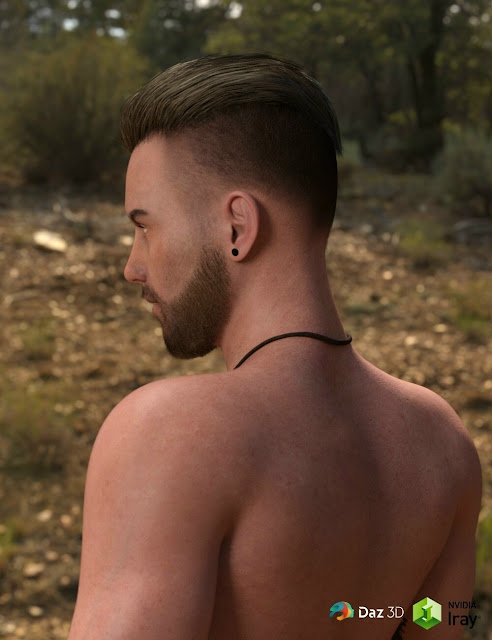 Pompadour Trend Hair for Genesis 3 Male