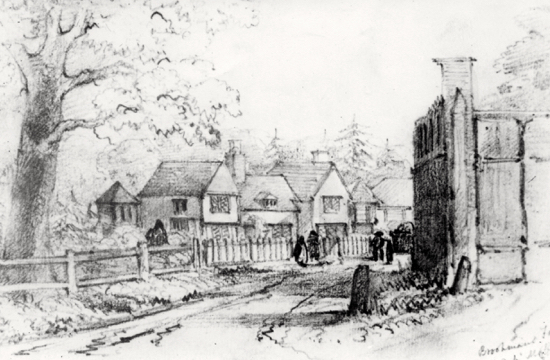 Drawing of Moffats farmhouse by Faithfull c 1850s. Image from the NMLHS