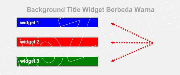 Modifikasi Background Title Widget Berbeda Warna