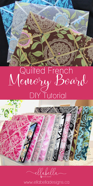 Quilted French Memory Board DIY Tutorial | Ribbon Board DIY Home Decor
