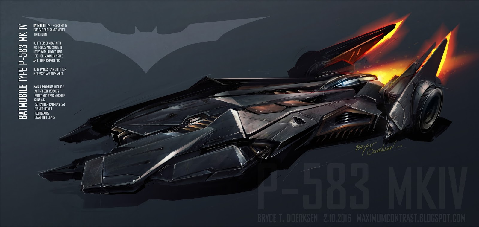 MAXIMUM CONTRAST: Batmobile Concept