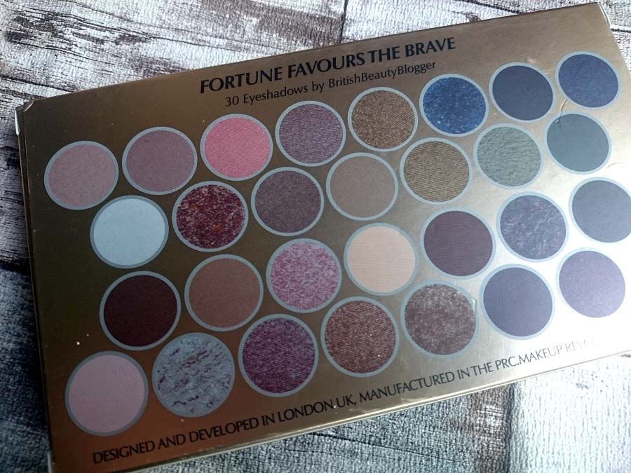 Beauty Blog, review, MUR Fortune Favours the Brave, Budget eyeshadow palette