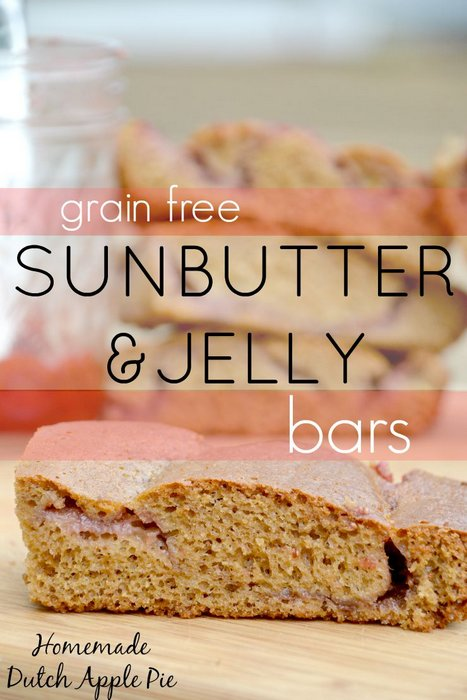 Grain Free Sunbutter and Jelly Bars