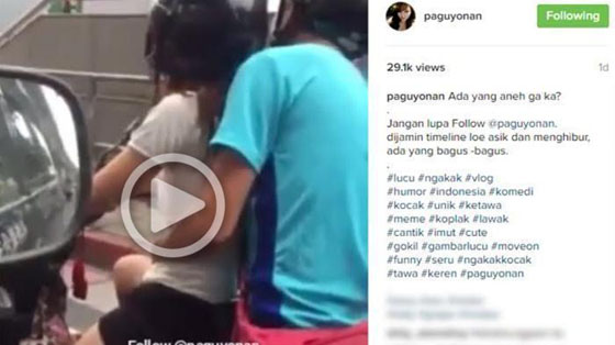 Video Mesum Muda-mudi di Atas Motor Hebohkan Netizen