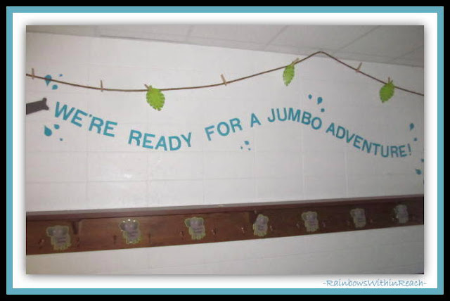 Kindergarten Bulletin Board Jungle Theme via RainbowsWithinReach