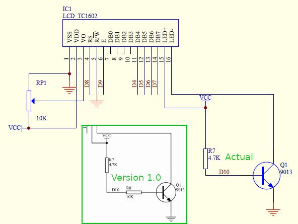 Conexiuni LCD la Arduino (sursa: DFRobot)
