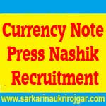 Currency Note Press Nashik Recruitment