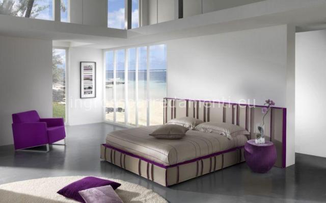 Dormitorio color morado dormitorios con estilo for Diseno de dormitorio blanco