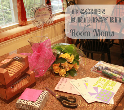 If youu0027re an old hat at the room mom business then this post is not for you. & The Blackberry Vine: Teacher Birthday Kit for Room Moms