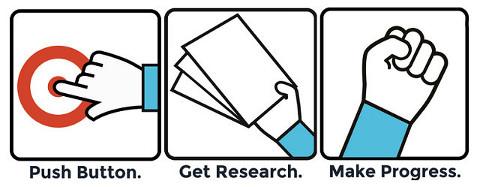 Pulsar botón, obtener investigación, progresar