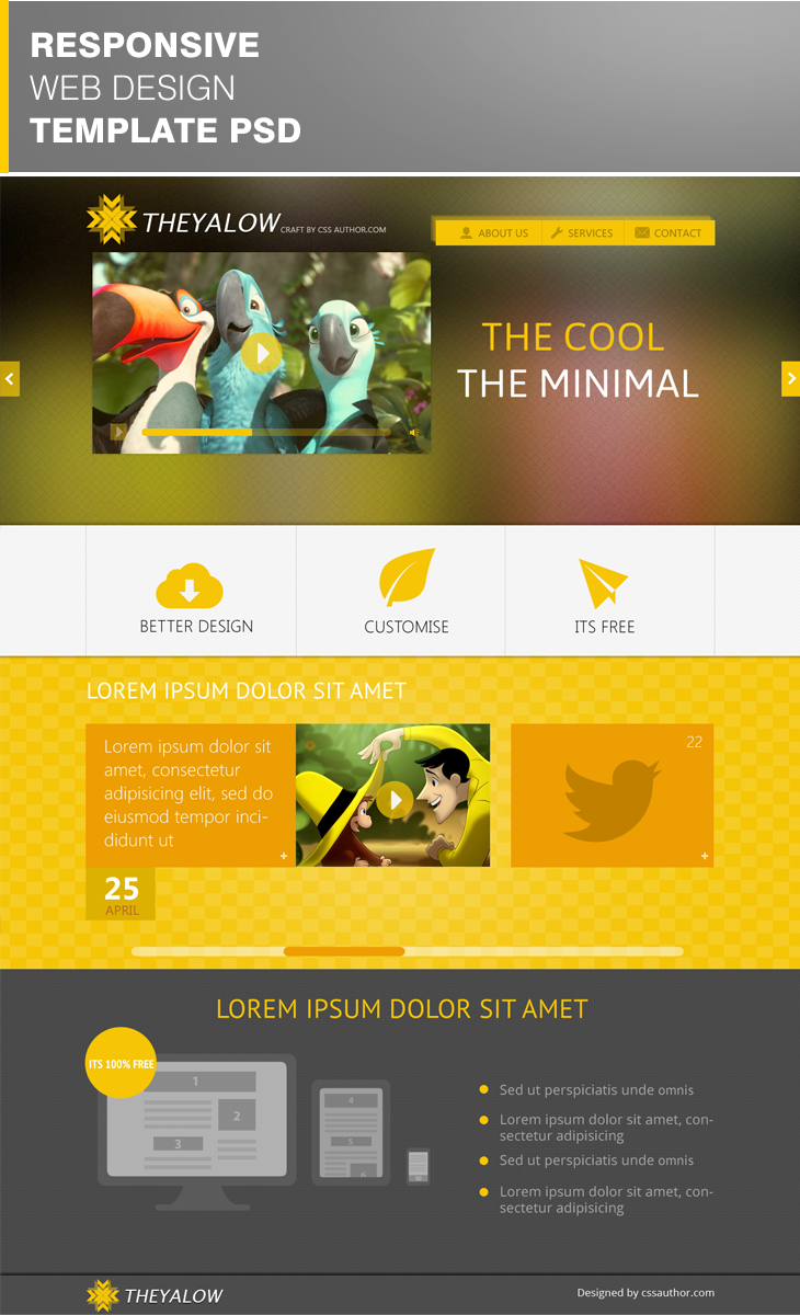 Free website Templates: THEYALOW – A Responsive Web Design Template ...