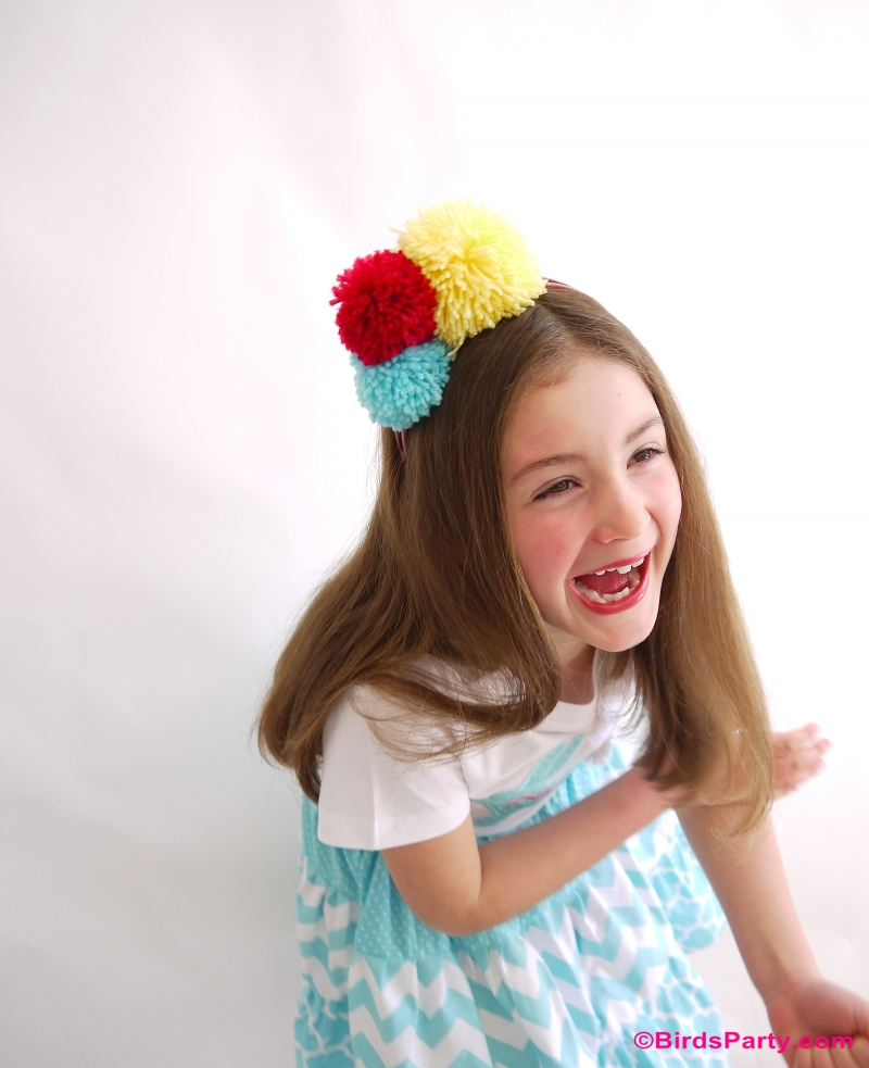 DIY Pompom Headband and Fashion Accessories - BirdsParty.com