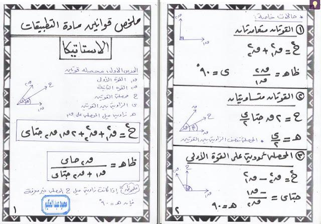 تلخيص كل قوانين الرياضيات للثانى الثانوى منهج 2018 فى 24 ورقة فقط للاستاذ محمود عبدالحكيم