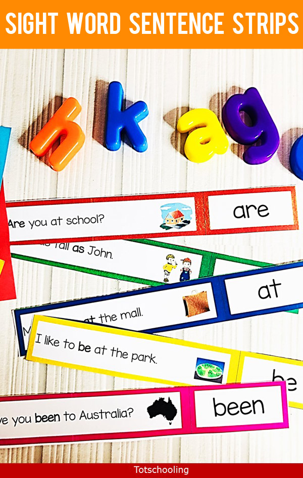 photograph relating to Sentence Strips Printable titled Sight Phrase Sentence Strips Totschooling - Infant