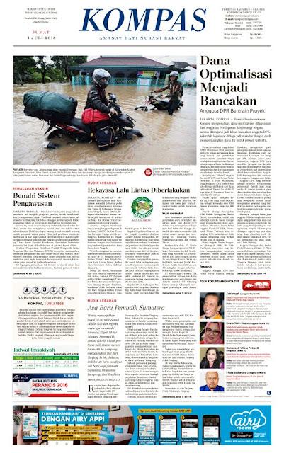 Kompas Edisi Jumat 1 Juli 2016