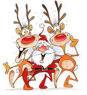 Babbo Natale Con Le Renne Immagini.Bambino Di Mamma Babbo Natale Arriva Con Le Renne