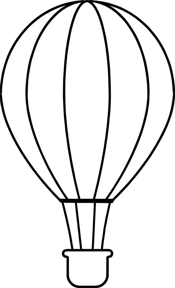Tranh tô màu khinh khí cầu đơn giản