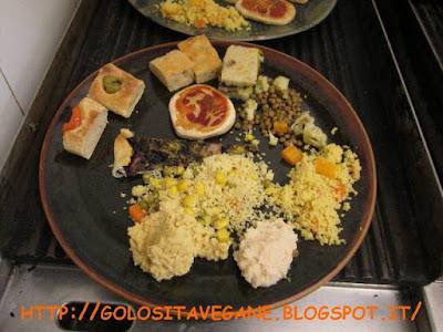 Il buffet di MujaVeg per raccolta fondi per il Festival vegan