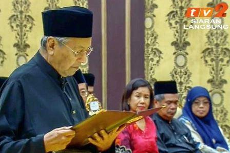 Sejarah tercipta dan janji 100 hari pentadbiran kerajaan baru