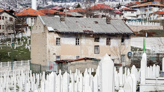 Graveyard in the middle of Sarajevo