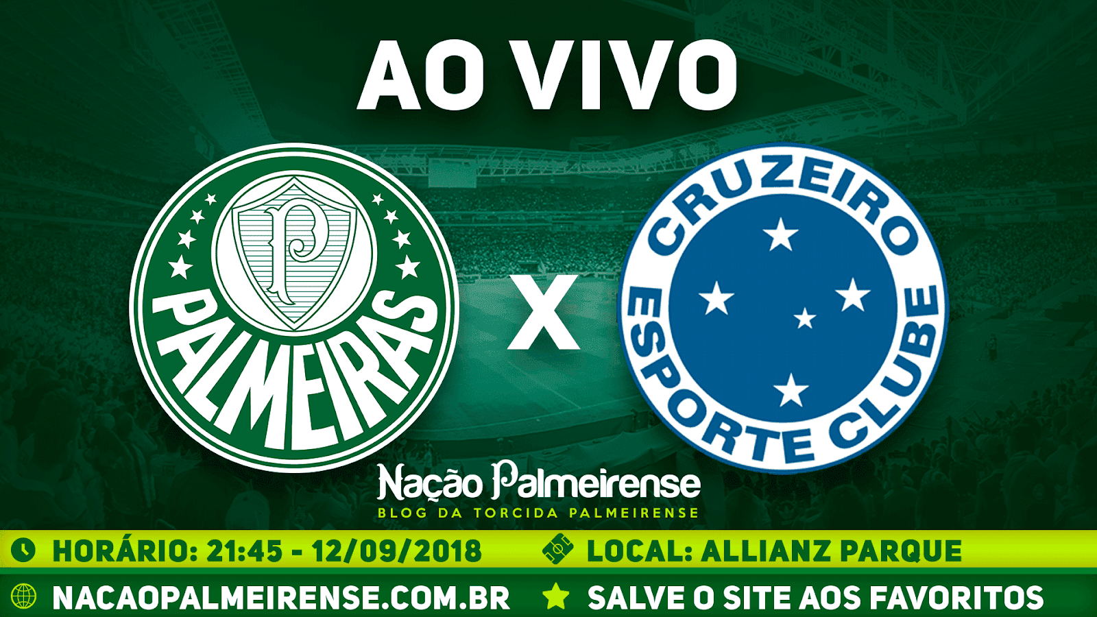 Assistir Palmeiras x Cruzeiro Ao Vivo