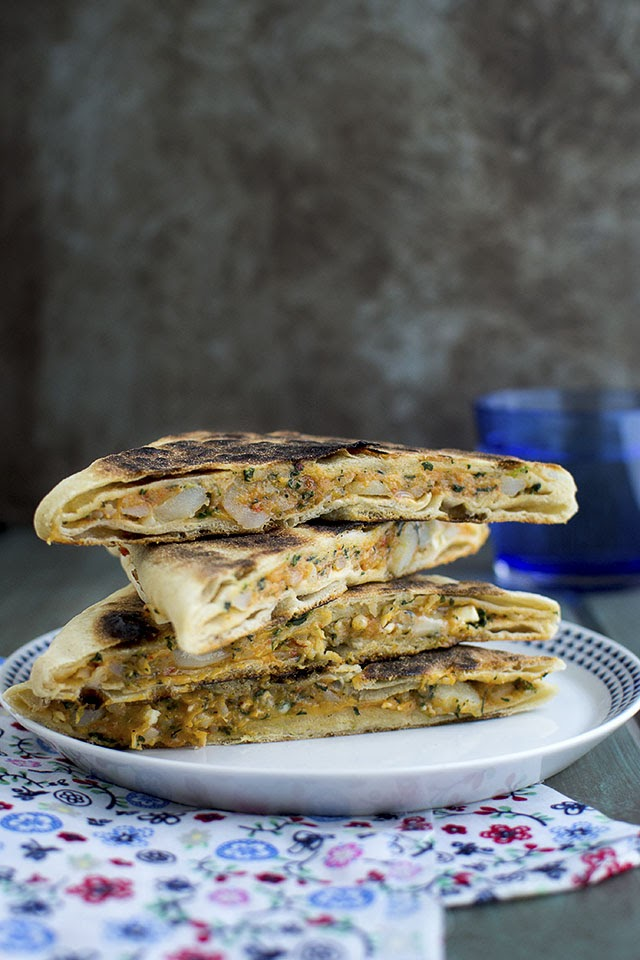 Stuffed Turkish Griddle bread