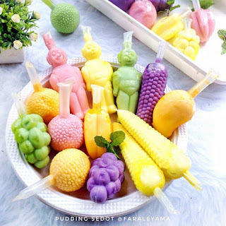 Ide Resep Membuat Pudding Sedot (Pudot) Colourful