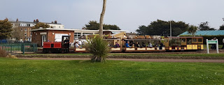 The Littlehampton Miniature Railway station at Norfolk Gardens