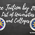 Universities and Colleges with FREE Tuition Starting 2018