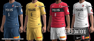Urawa Red Diamond kits 2016-2017 Pes 2013