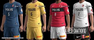 Urawa Red Diamond kits 2016-2017 Pes 2013