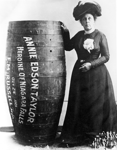Annie Taylor, on her birthday, October 24, 1901, became the first person to survive a trip over Niagara Falls in a barrel. What SHOULD  take home message be? The best Christian vs Atheist debate ever! marchmatron.com