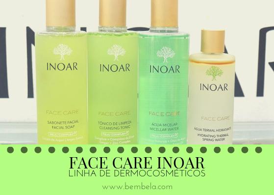 A linha de dermocosméticos da Inoar é composta por 13 produtos para cuidados com o rosto e corpo