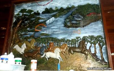 Phản hồi của khách vẽ màu acrylic 3D - Anh Lân