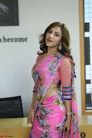 Angela Krislinzki Rogue Movie Fame Telugu Actress in Saree Backless Choli 108.JPG