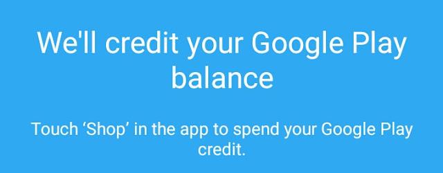 Google, shop, credits
