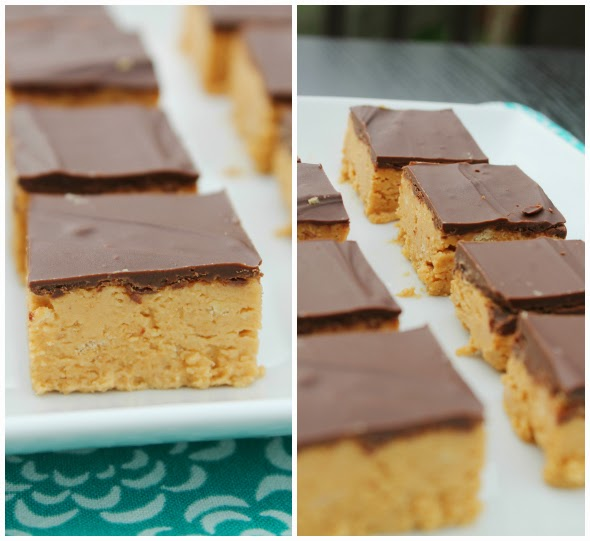 Peanut Butter Ball Bars - all the taste without all the fuss!