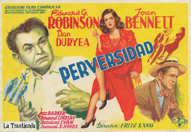Programa de Cine - Perversidad - Edward G.Robinson - Joan Bennet