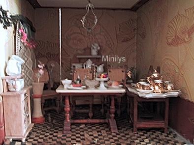 Minilys Miniatures Comedor Y Cocina Antigua