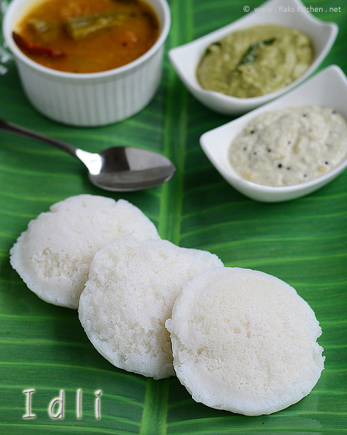Idli recipe - soft idli authentic way
