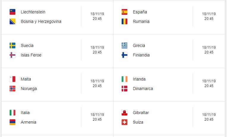 21 Calendario eliminatorias Eurocopa 2020 - 18 de noviembre 2019. Partidos de clasificación Eurocopa 2020. Juegos de las eliminatorias Eurocopa 2020. Partidos, fechas, hora, transmisiones eliminatorias Eurocopa 2020. Donde ver la Eurocopa 2020