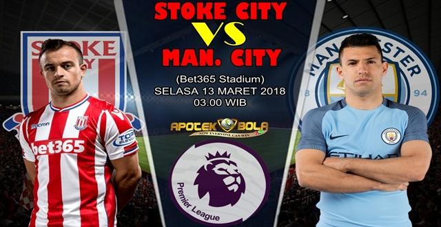 Prediksi Stoke City vs Manchester City 13 Maret 2018