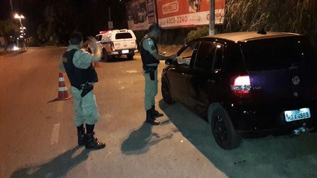 Policia Militar realiza Blitz durante a Semana Santa em Santa Luzia