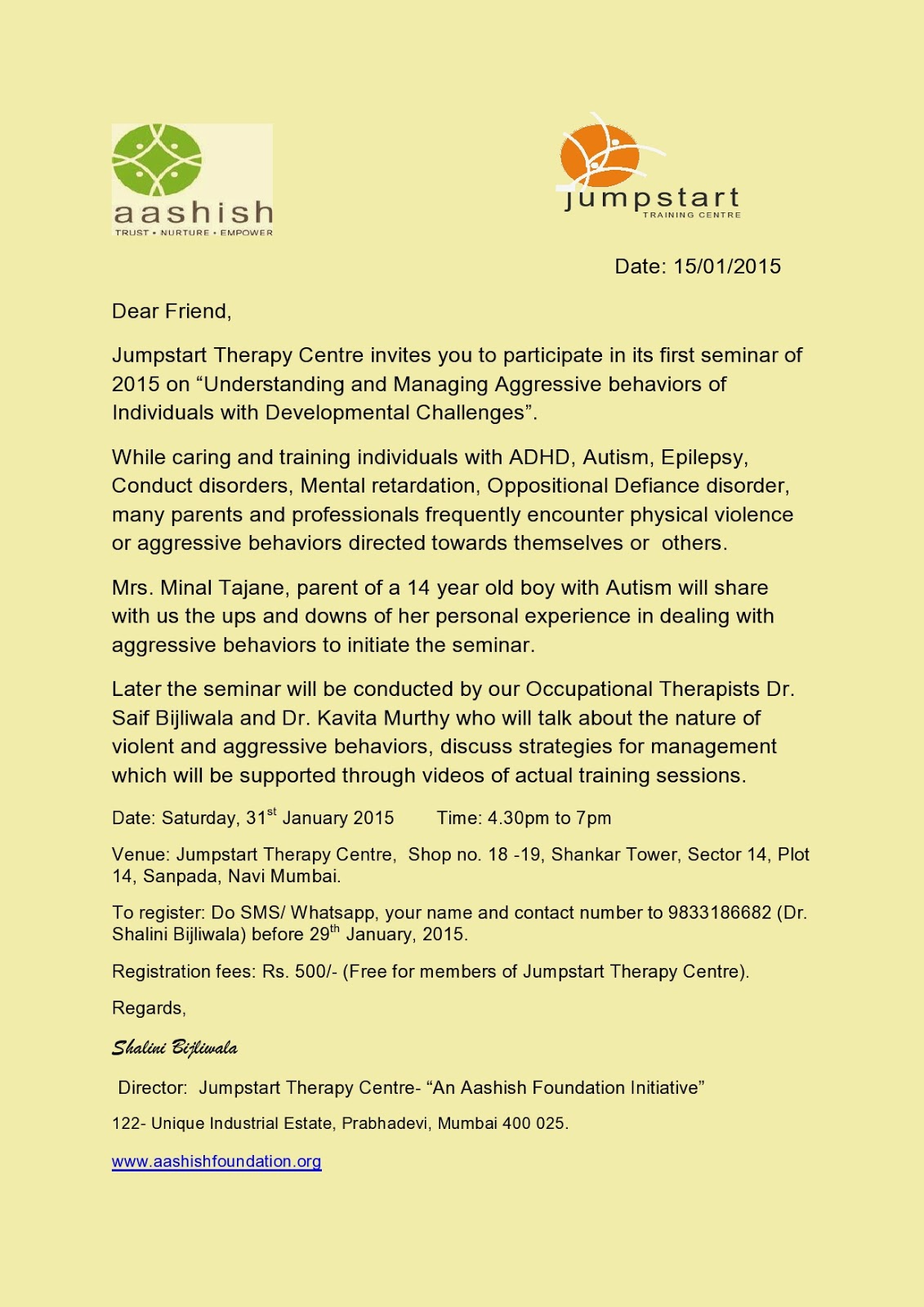 The Mumbai Branch Of All India Occupational Therapist's