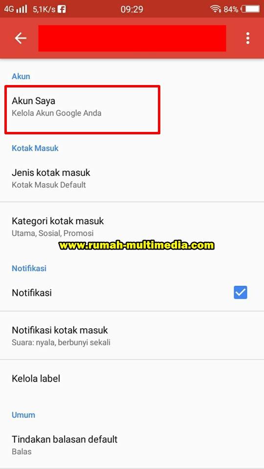 cara logout atau menghapus akun google