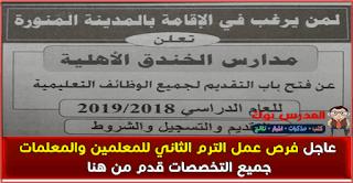 وظائف عمل معلمين بالسعودية 2018 المدينة المنورة