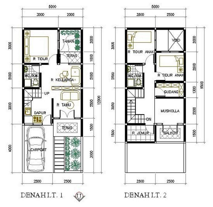 denah rumah 6x9 meter kamar 3 yang bagus