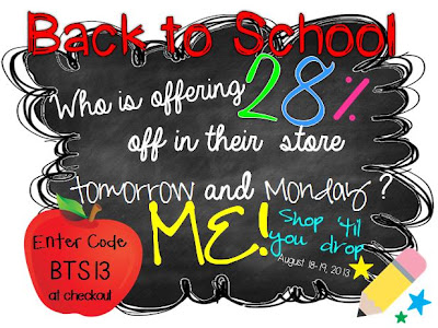 TPT Back to School Sale 28% Off at Fern Smith's Classroom Ideas!