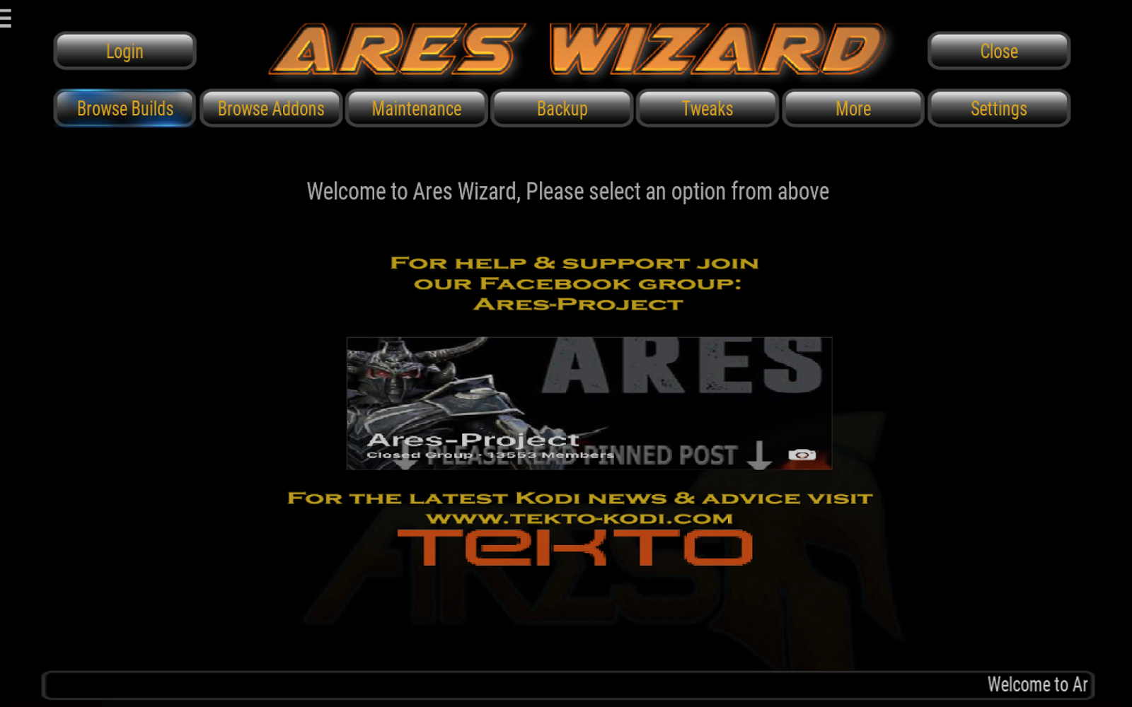 how to get to ares kodi